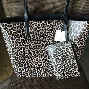 Beautiful Kate Spade reversible leopard print tote